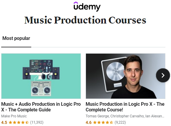 Music Production Courses From Udemy
